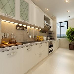 泽天下现代简约风格厨房装修效果图