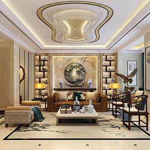紫悦府--新中式风格--374平米