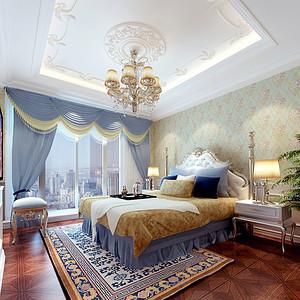 上尚庭法式风格卧室效果图