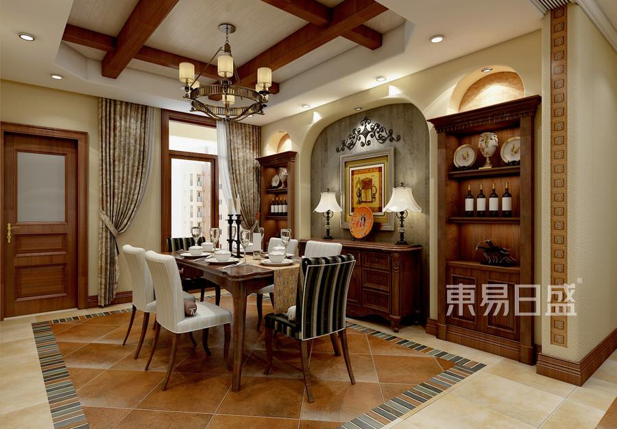 美式风格-餐厅-装修效果图