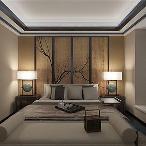 融府新中式风格卧室装修效果图