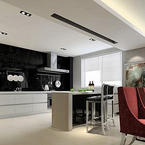 现代港式风格厨房装修效果图
