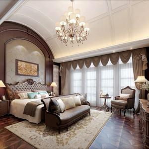 枫桥别墅-古典美式-278平米
