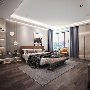 床头背景墙设计有现代硬包