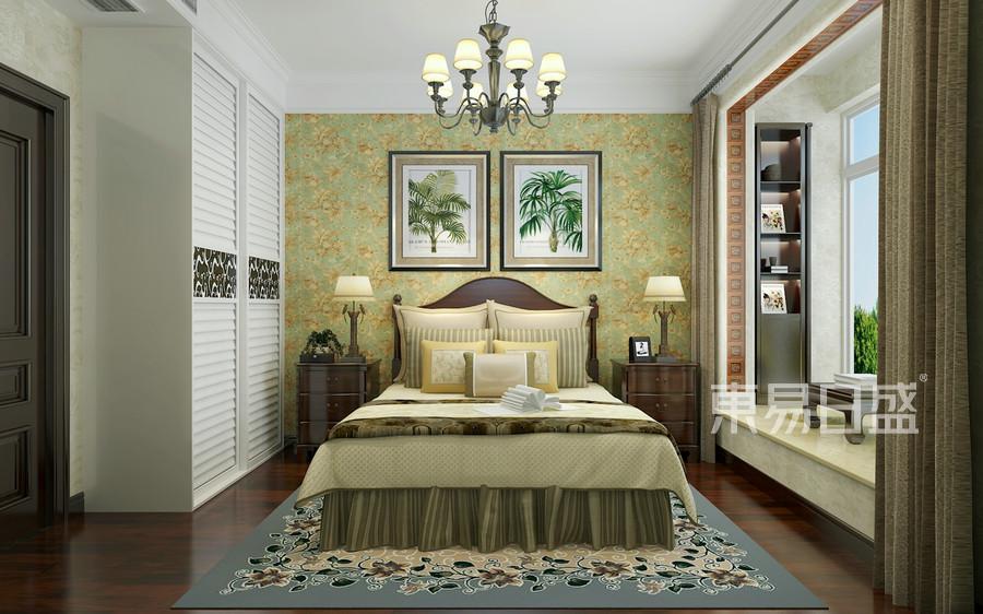 美式风格-卧室-装修效果图