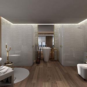 美式-卫生间-别墅装修效果图
