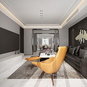 现代轻奢客厅装修效果图