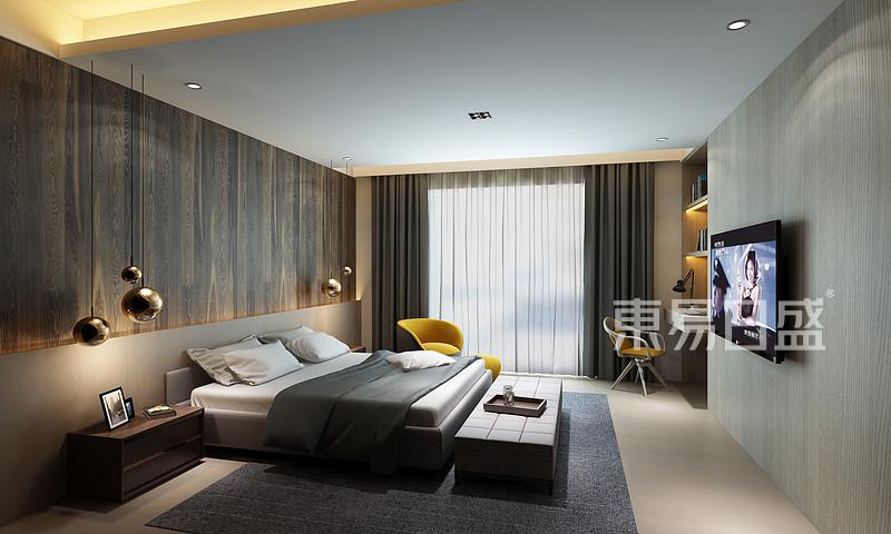 极简风格卧室床头背景墙