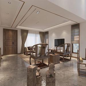 田园东方新中式客厅