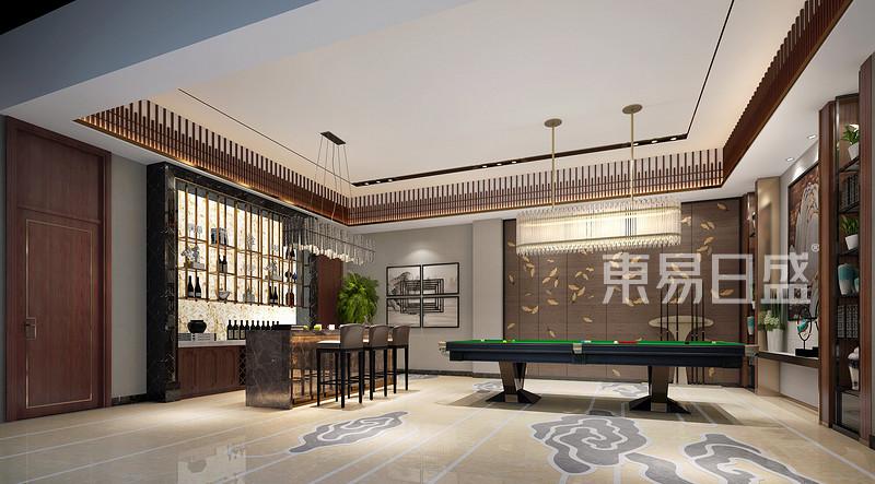 3号别墅新中式休闲区装修效果图图片