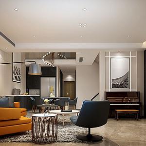 龙湖香醍 现代极简装修效果图 五室四厅 350平米