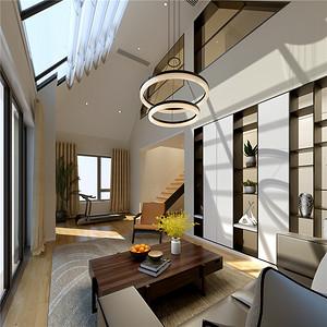 现代简约起居室装修设计效果图
