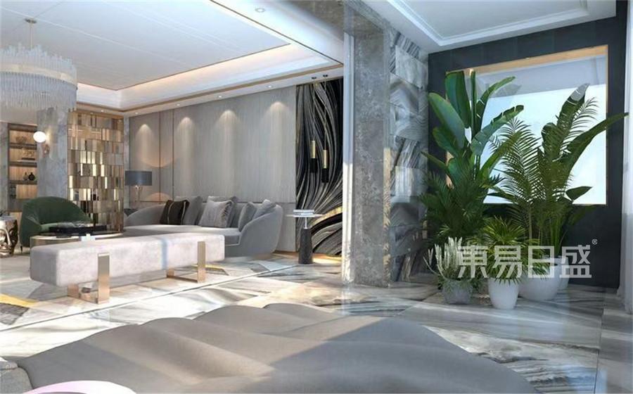 三居室-现代港式-客厅阳台-效果图