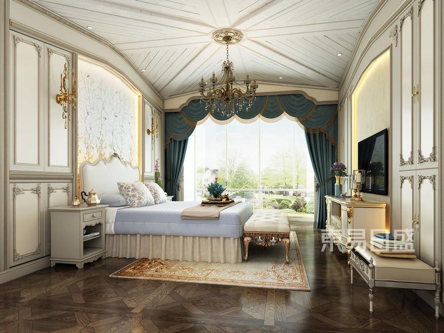 卧室-美式混搭-效果图