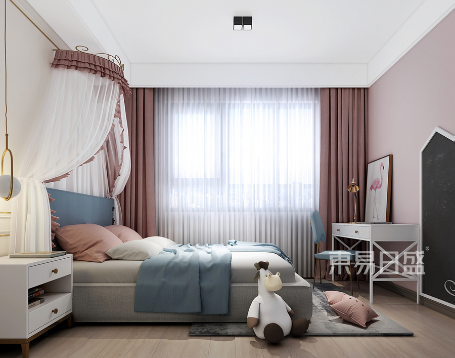 现代极简风格儿童房装修设计