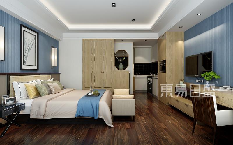 新中式风格-卧室-装修效果图