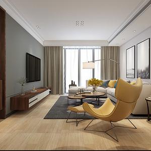 北欧风格 客厅装修效果图 三室两厅