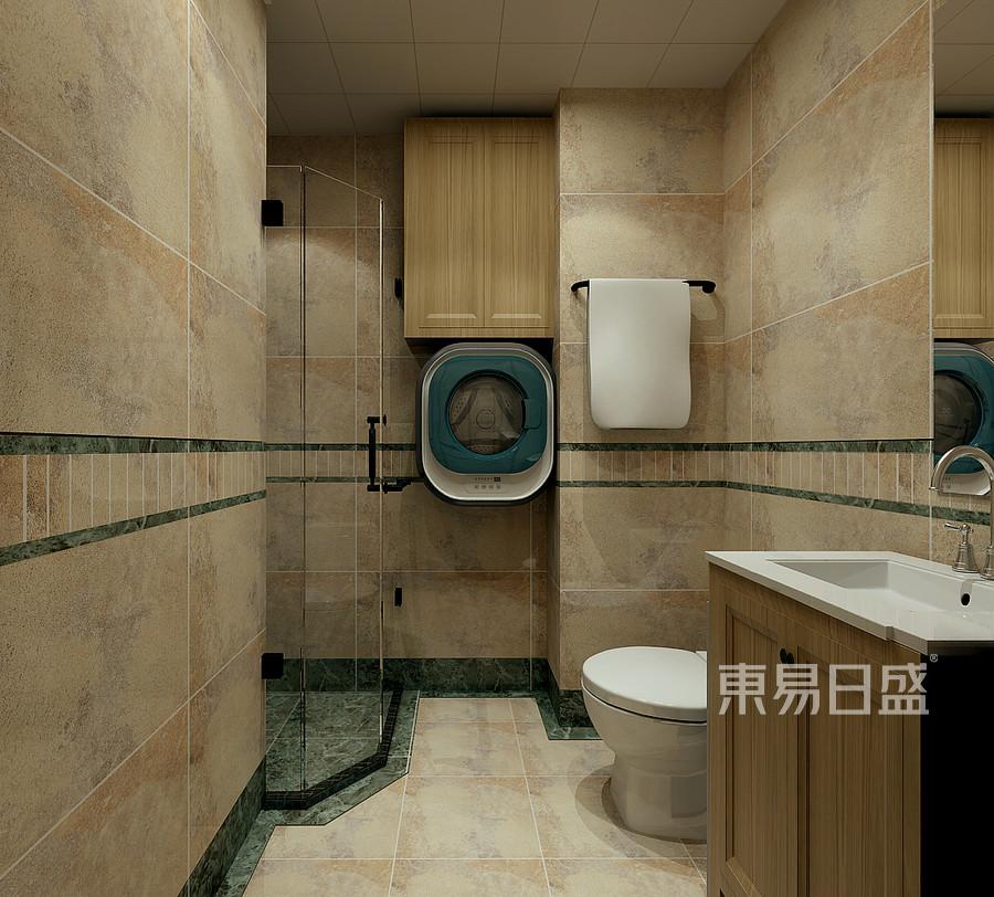 新中式风格-卫生间-装修效果图