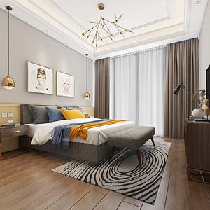 北欧风格 卧室装修效果图 三室两厅