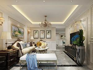 天水120平米以下普通住宅最新简欧装修案例_电视墙设计图cad线条图片