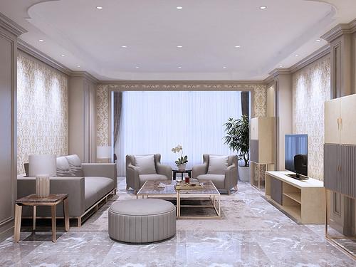 北京公寓-现代简约-320㎡装修设计理念