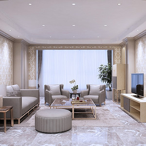 北京公寓-现代简约-320㎡