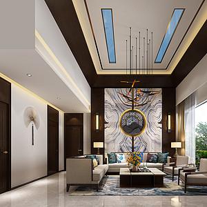 盛和雅颂130㎡-新中式二房装修效果图