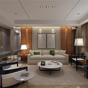 水晶城现代风格客厅装修效果图