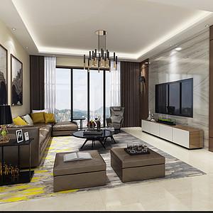 大岭山金地格林上院装修效果图-142㎡现代简约四房二厅装修案例