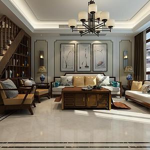 卓达太阳城-别墅设计-简中风格案例
