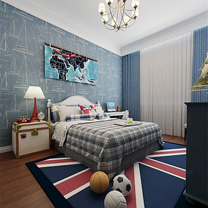 金屋半岛二区美式风格儿童房装修效果图