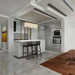 现代+简欧风格装修效果图-厨房