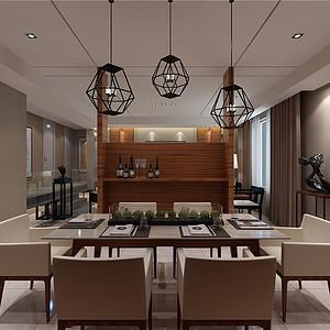 水晶城现代风格餐厅装修效果图
