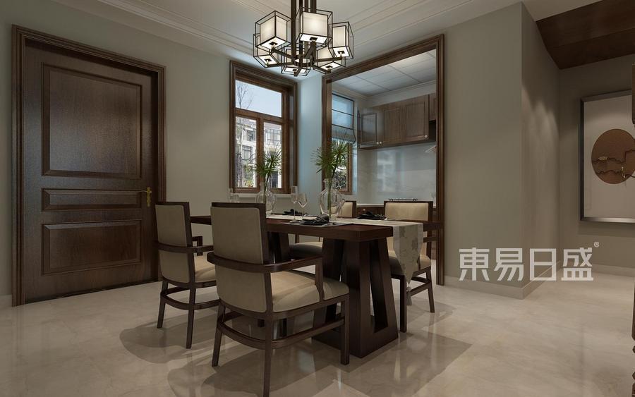 别墅设计-简中风格-餐厅设计