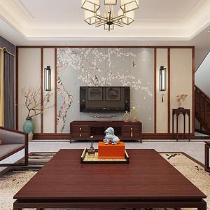 金屋二区-新中式风格-240平米