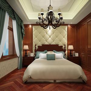 华润悦府240平米平层美式古典风格