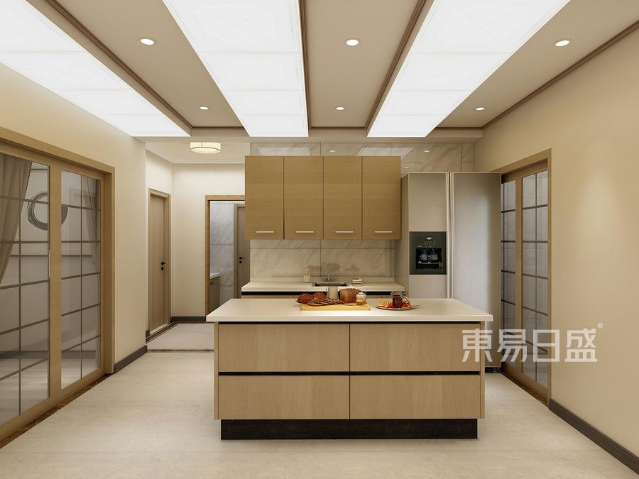 133㎡三居室原木禅韵风格 厨房装修效果图