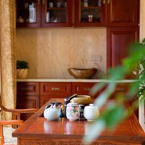 中隆国际御玺200平米中式茶室小景