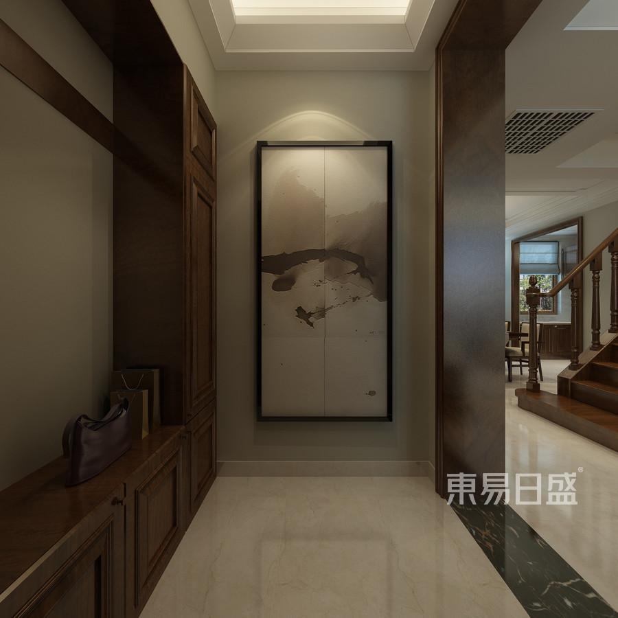 别墅设计-简中风格-走廊设计
