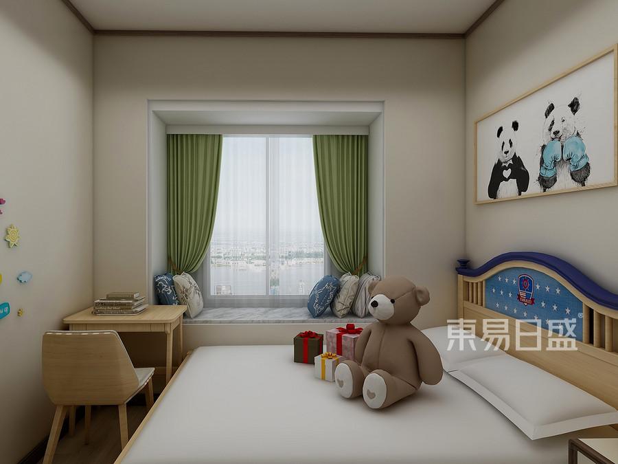 133㎡三居室原木禅韵风格 男孩儿童房装修效果图