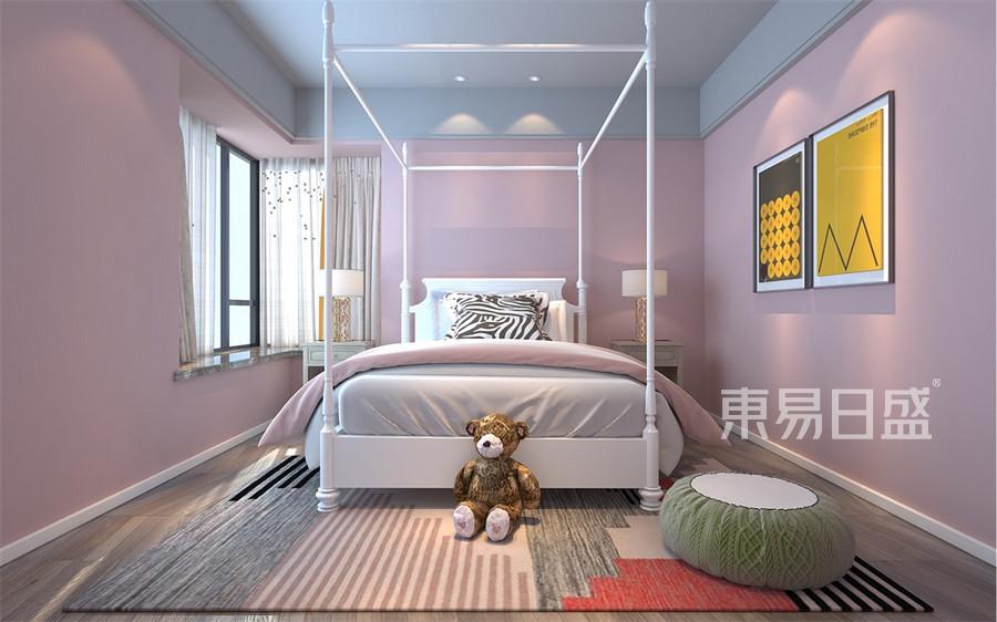 三居室-现代港式-女儿房-效果图