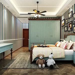 凤凰国际美式风格儿童房装修效果图