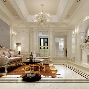 欧式古典 客厅装修效果图 别墅装饰