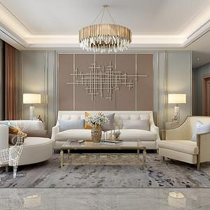 军秀苑170平四室二厅轻奢风格装修案例