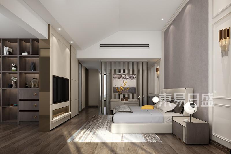 现代新中式主卧室装修