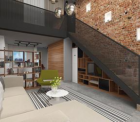 东城星河传说迪纳公寓客厅效果图
