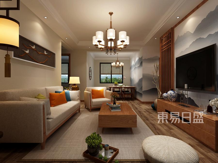 客厅新中式风格设计