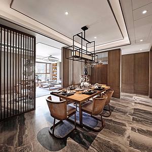 餐厅楼上的餐厅,较为中式味道浓厚