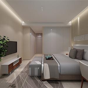 水晶城现代风格卧室装修效果图