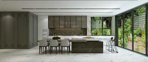 蓝郡名邸420平别墅现代轻奢风格装修案例
